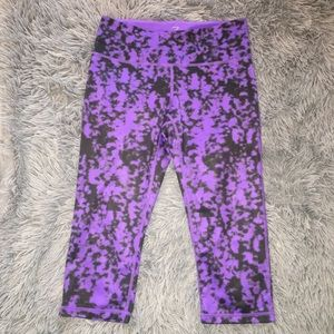 Purple and Black Work Out Pants